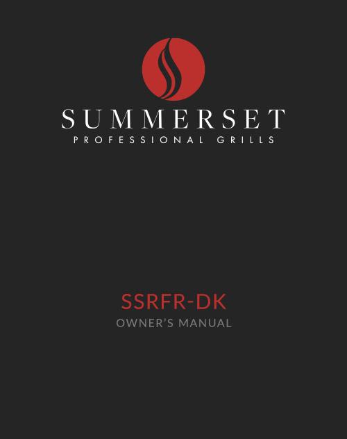 Summerset SSRFR-DK Manual